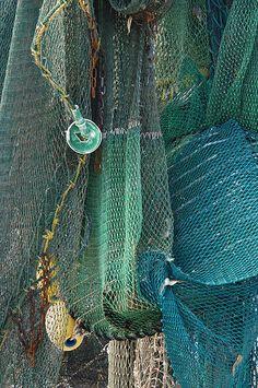 Shrimp nets - fantastic textures and colors.