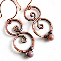 Hammered Copper Modern Earrings Antiqued Copper by KariLuJewelry, $24.00