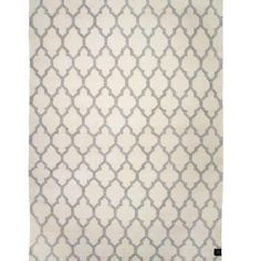 Trellis Matta Vit/Grå 200 x 300 cm - Classic Collection - Dennys Home