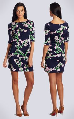 Lilly Pulitzer  Bright Navy/Wine Cocktail Dress