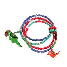Bracelet perroquets multirangs #Blancheporte