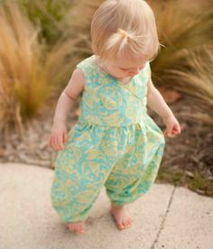 Katelyn Romper (Sizes 3 mos to Size 6) PDF Sewing Pattern and Tutorial