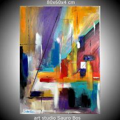 quadro astratto per soggiorno moderno olio su tela 120x80 per info ...