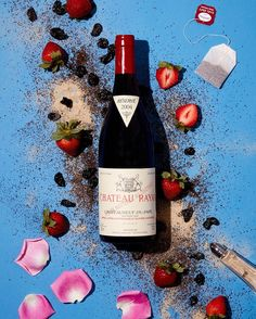 wonderful Rayas Chateauneuf Du Pape, Red Wine, Alcoholic Drinks, Bottle, Glass, Food, Stripes, Drinkware, Flask