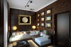 Brown room. Psychology of color. Color meaning. Painting tips. Living room. Family room.