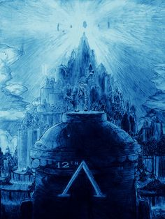 It's been 12 Years since Atlantis came out on June 15th 2001. So I decided to draw a special Atlantis pencil drawing. As you can see, I took the picture with blue effects. Atlantis city capital far behind Milo and Kida standing on a giant statue. It was a great movie, but unfortunately underrated unlike the other Disney movies.