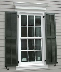 exterior wood windows with shutters   Exterior Wood Shutters Pictures 6