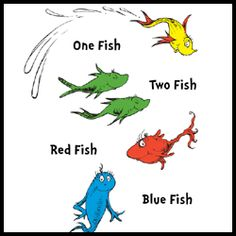 One Fish Two Fish Red Fish Blue Fish | Google images