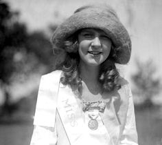 Miss Margaret Gorman of Washington, D.C,  the first Miss America in 1921, which was later re-named to Miss America in 1922.
