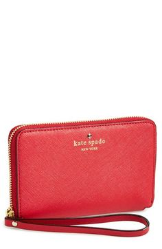 kate spade new york 'cedar street - laurie' zip around phone wallet available at #Nordstrom