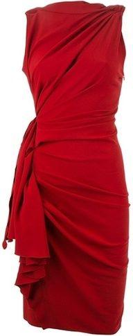 Red Knee-Length dress