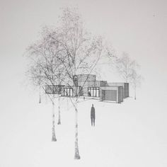 The house in Gjøvik consists of 6 cubes overlapping each other in plan and section letting the eye wander from one room to a second and even a third. The house by the lake is taking it's shape and we can't wait for @kjerstilinnerud and her lovely familiy to move in. #kjerstilinnerud #fromgroundup #normarchitects