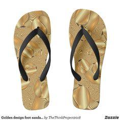 40c732ccb6751 Golden design foot sandals flip-flops jandals - Durable Thong Style  Hawaiian Beach Sandals By