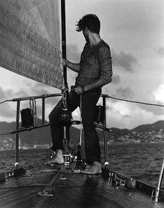 love sailing - Ben Hill by John Balsom Charles Bukowski, Ben Hill, Mens Photoshoot Poses, Guy Pictures, Catamaran, Stylish Men, Beautiful Men, Sailor, Mens Fashion