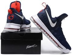 Nike Zoom KD 9 Lmtd EP Mens Basketball Shoes Dark blue red1