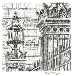"ARTFINDER: ""Downing Street"" Pencil by Brian Keating ANCAD - Original graphite pencil drawing."