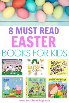 I love these Easter books for kids! These books are great for preschoolers to learn about Easter egg Hunts, the Easter bunny and all things Easter! #Easter #booksforkids #reading