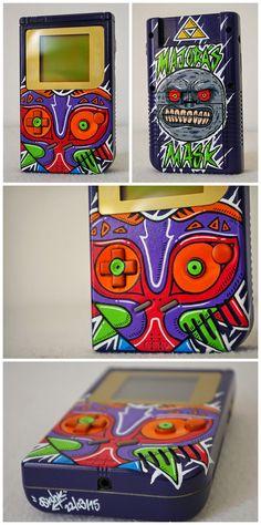 "Custom Art: Custom Game Boy Legend of Zelda ""MAJORA'S MASK"" by Oskunk"
