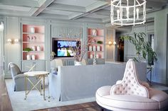 Jeffrey Allan Marks- must have one of those tufted round sofas- love the grey and pink