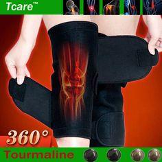 Tcare 1 Pair Banda selfheating joelheira Terapia Magnética do joelho apoio Turmalina Belt aquecimento Massageador joelho Perna parte de Cuidados de Saúde