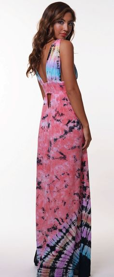 INDAH ANJELI MAXI DRESS TIE DYE $150- CALL SPLASH TO ORDER 314-721-6442