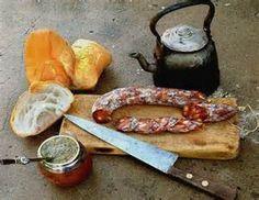 Mate con salamin y pan, que rico¡¡¡