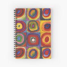 Disability Art, My Notebook, Kandinsky, Circles, Squares, Spiral, My Arts, Art Prints, Printed