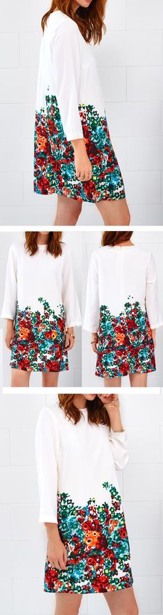Swing in the summer breezes. $19.99 can make a difference in the hot summer. It designed with floral printing, round neck and zip at back. What are you waiting for? Go for the lovely floral now! Cupshe.com will give you a hit !