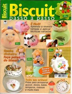 09 Biscuit Passo a Passo - Danielle - Picasa Web Albums Clay Jar, E Magazine, Fondant Tutorial, Pasta Flexible, Character Modeling, Book Crafts, Craft Books, Clay Tutorials, Cold Porcelain