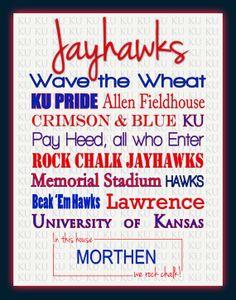 Kansas Jayhawks standout print
