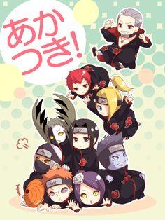 Akatsuki Tobi, Yahiko, Konan, Kakuzu, Zetsu, Itachi, Kisame, Deidara, Sasori and Hidan