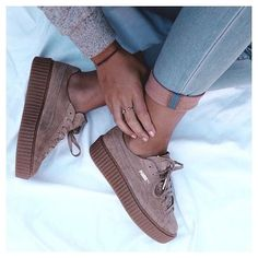 Adidas Women Shoes - Les sneakers Creeper Puma by Rihanna - We reveal the news in sneakers for spring summer 2017 Cute Shoes, Me Too Shoes, Fenty Creepers, Rihanna Creepers, Rihanna Sneakers, Basket Sneakers, Adidas Shoes Women, Adidas Women, Boots