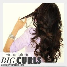 This curly hair-do will look perfect for any occasion. Watch this 8:01 video tutorial on how to do these beautiful big curls like Kim Kardashian.