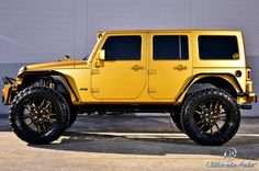 Take a look at the Heavily Modified Orange Jeep Wrangler Grabs Your Attention photos and go back to customizing your vehicle with renewed passion. Orange Jeep Wrangler, Jeep Wrangler Rubicon, Jeep Wrangler Unlimited, Jeep Wranglers, Jeep Jk, Jeep Truck, Jeep Sahara, Blue Jeep, Badass Jeep