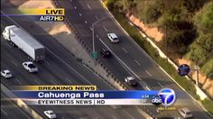 California High Speed Police Chase Stolen Saturn SUV Crazy Driving (KABC)