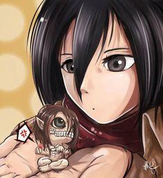 Mikasa Ackerman & Eren Yeager - Shingeki no Kyojin / Attack on Titan,Anime