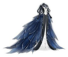 Queen Night 🌚 Dress Sketches, Dress Drawing, Monologues, Watercolor Brushes, Fairy Dress, Fantasy Dress, White Gowns, Diy Halloween Costumes, Costume Ideas