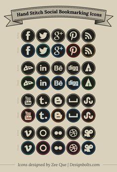Web Design, Icon Design, Logo Design, Design Ideas, Graphic Design, Share Icon, Social Bookmarking, Social Media Icons, Social Networks