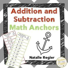 $ Looking for a way to build your students' addition and subtraction fluency? Use math anchors to develop these skills!
