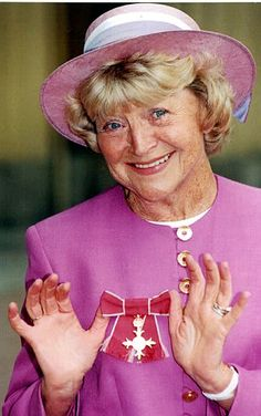 The death, aged 91, of Dora Bryan on this day 23rd July, 2014. Veteran British actress whose long career encompassed theatre, film, radio and television, she won a Bafta for her performance in the classic 1962 film A Taste of Honey. Dora at Buckingham Palace with her 1996 OBE