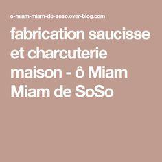 fabrication saucisse et charcuterie maison - ô Miam Miam de SoSo