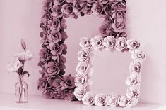 DIY Decorative Mirrors w recycled egg cartons make the cutest flower frames