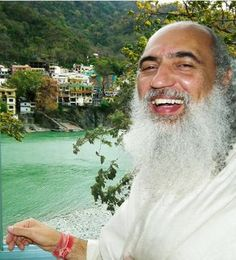 Sri Prem Baba in the community of Rishikesh, on the banks of  Ganges river.