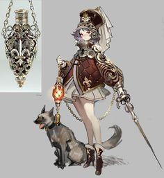 수줍 on in 2020 Fantasy Character Design, Character Creation, Character Design Inspiration, Game Character, Character Concept, Concept Art, Character Costumes, Fantasy Characters, Anime Characters