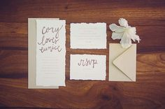 Simple yet elegant stationery. Image: Closer To Love.