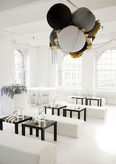 What a great design for a modern wedding reception or stylish birthday bash!