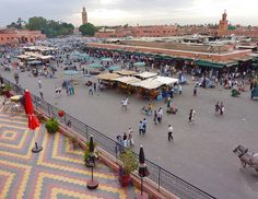 View from the terrace of Cafe de France. Marrakech. by elsa11, via Flickr