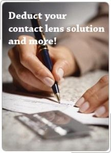 Taxes: deduct your contact lens solution + free printables