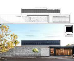 Projeto e execução de residência de alto padrão industrializada utilizando pré-moldados e estrutura metálica. #cornetta #arquitetura #prefab #premoldados #estruturametalica #casasmodernas