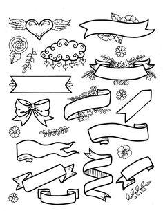 Bullet Journal Lettering Ideas, Bullet Journal Writing, Bullet Journal Ideas Pages, Bullet Journal Inspiration, Banner Doodle, Cursive Alphabet, Alphabet Art, Doodle Art Journals, Doodle Art Huruf